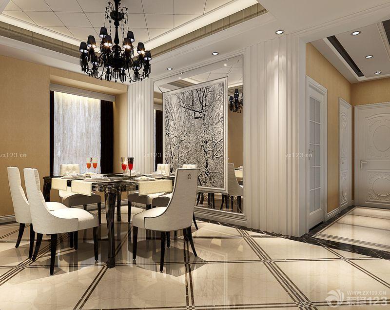 最新欧式风格客厅门槛石装修效果图片欣赏