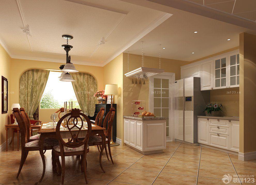 欧式风格小户型厨房客厅隔断设计效果图欣赏