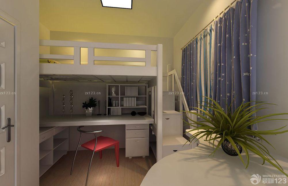 时尚个性现代实木高低床装修效果图欣赏