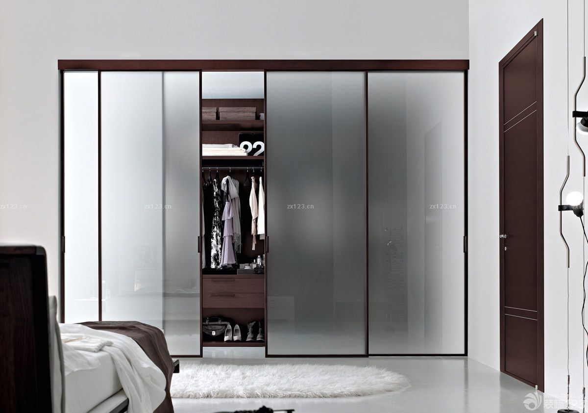 大卧室衣柜玻璃门效果图片大全_2016室内装修效果图