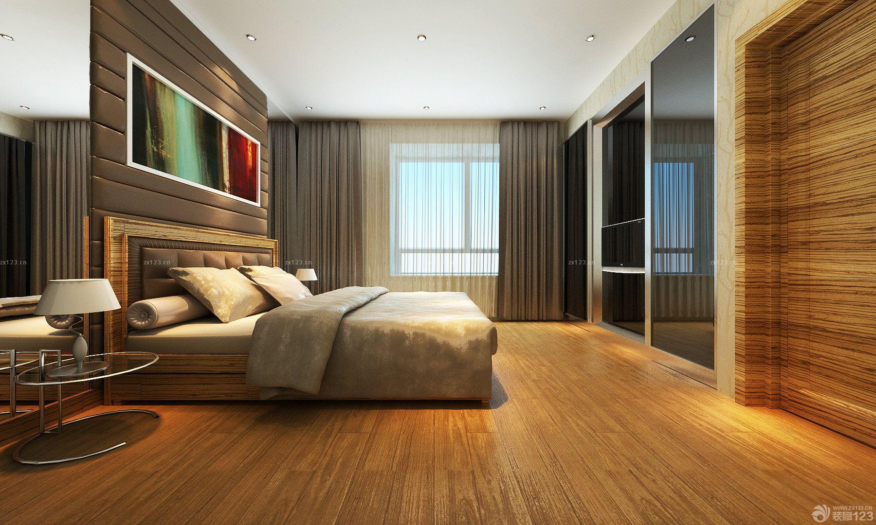 最新长方形卧室钛合金移门装修效果图