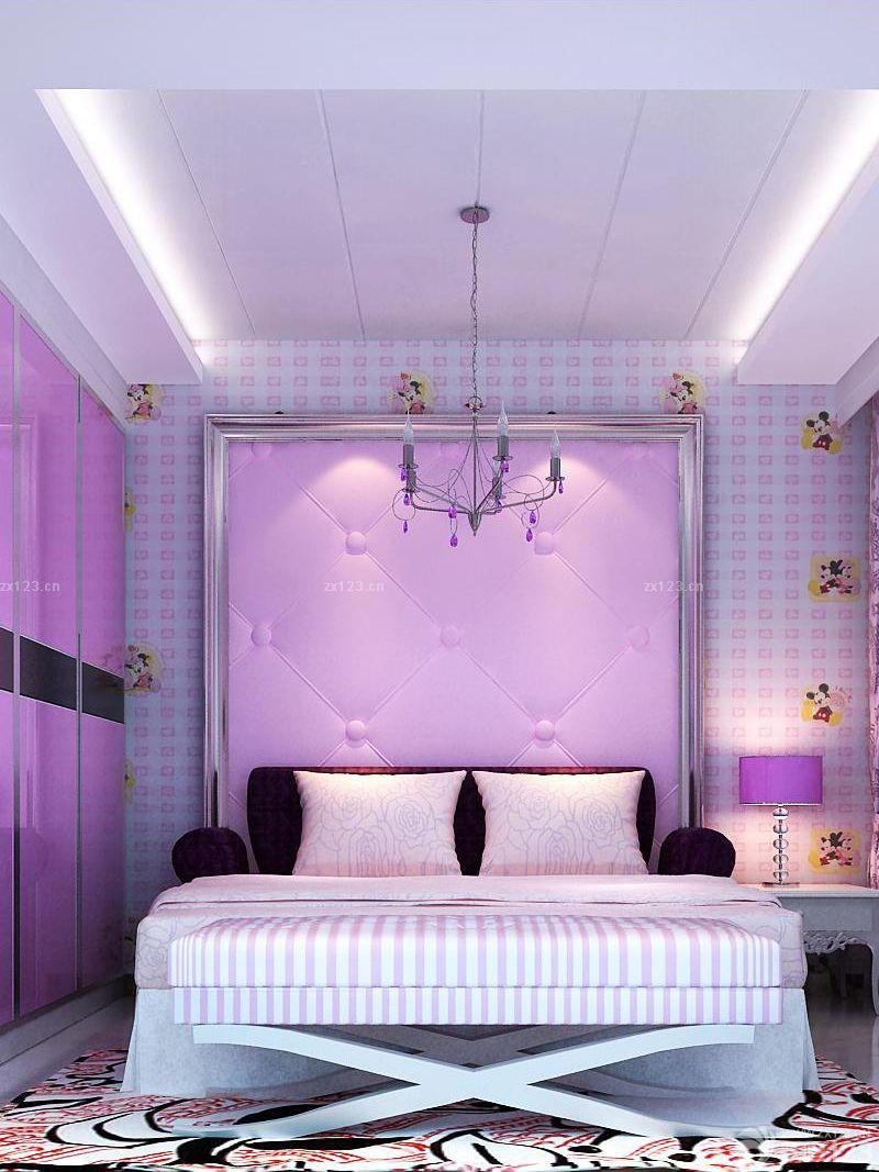 89平房子装修设计图女生卧室设计图片