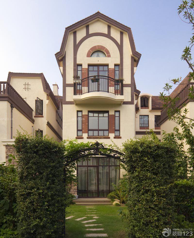 2016豪华中式三层别墅外观设计效果图