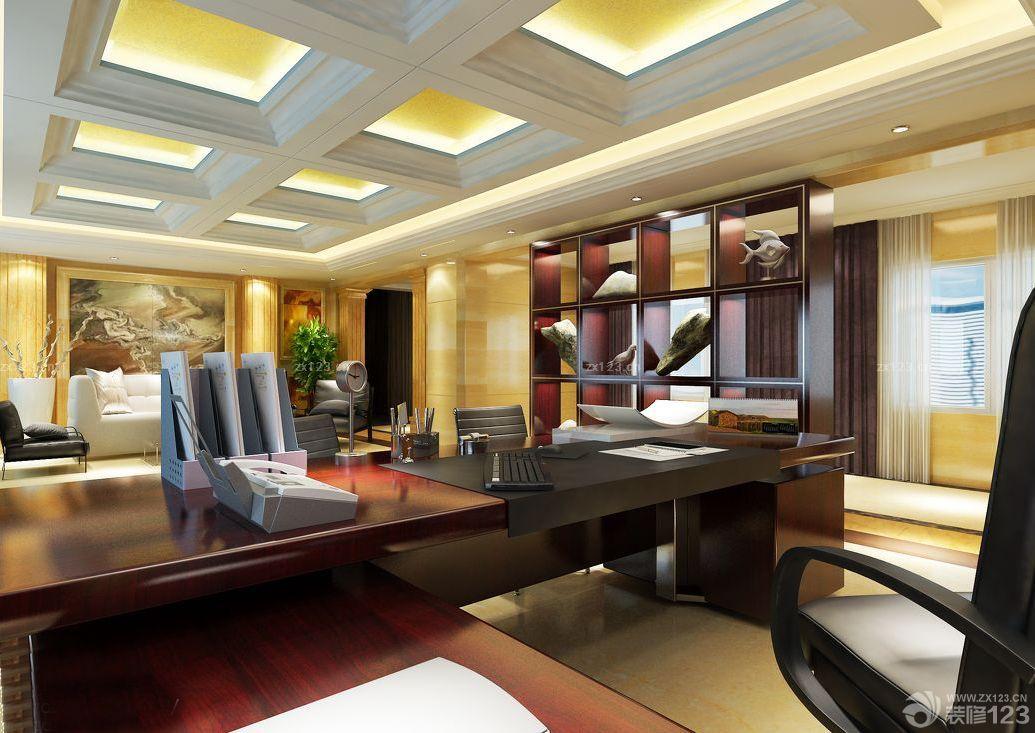 欧式风格老板办公室装修设计图片欣赏