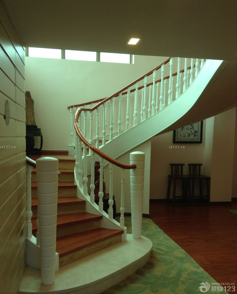 最新欧式风格阁楼旋转楼梯装修案例