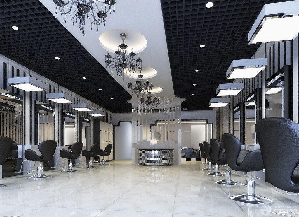 欧式风格美发店装修设计图片