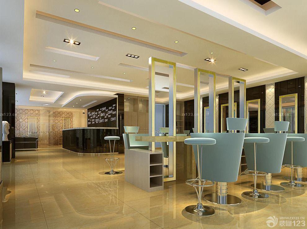 现代风格美发店装修设计图片大全 设计456装修效果图