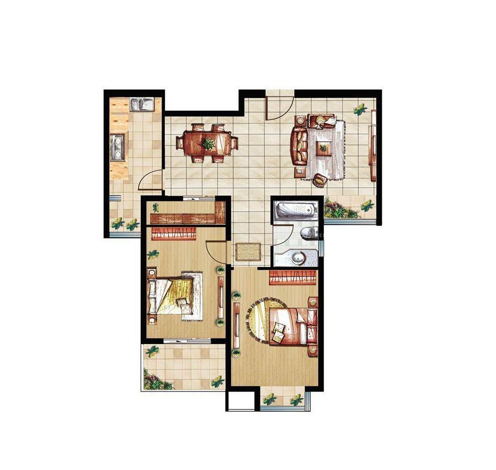 产房待产室平面图