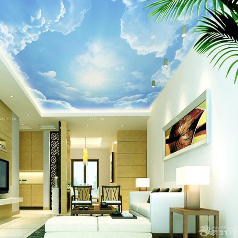 客厅天花板吊顶壁纸设计图
