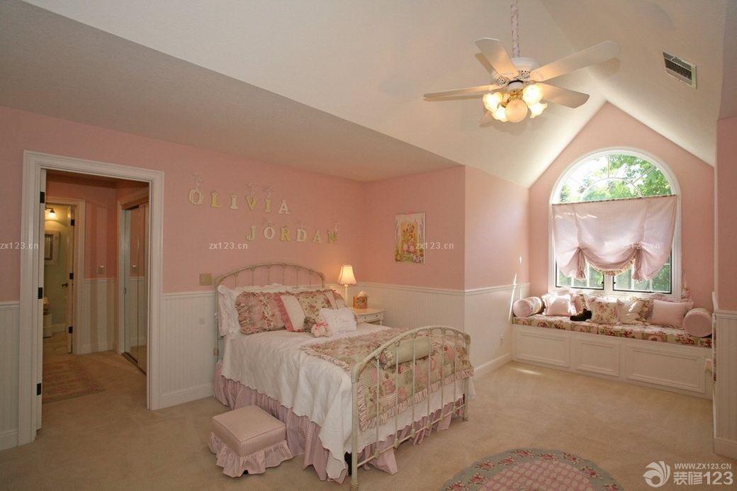 最新欧式别墅女生卧室设计图片大全
