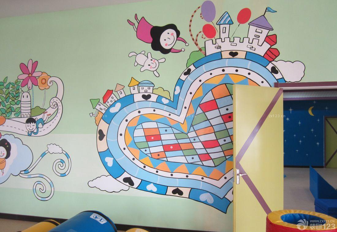 幼儿园手绘墙画效果图片大全