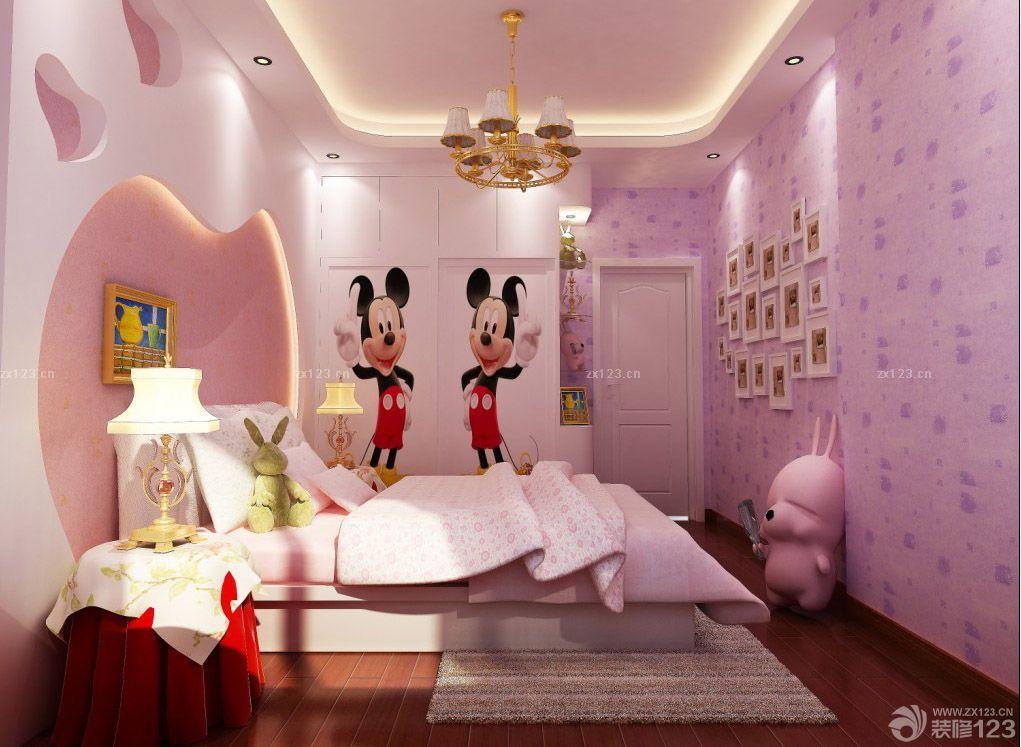 35平小户型单身公寓女生卧室设计效果图