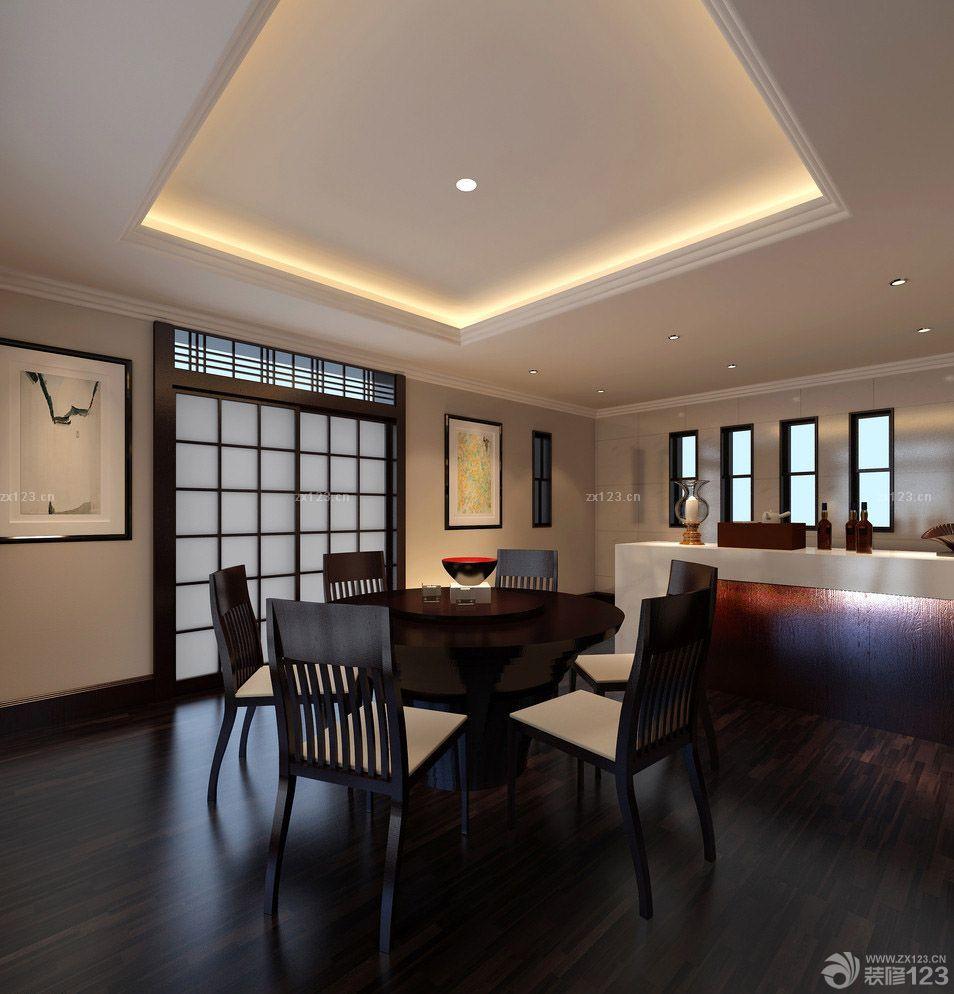 日式风格黑色木地板装修样板_设计456装修效果图