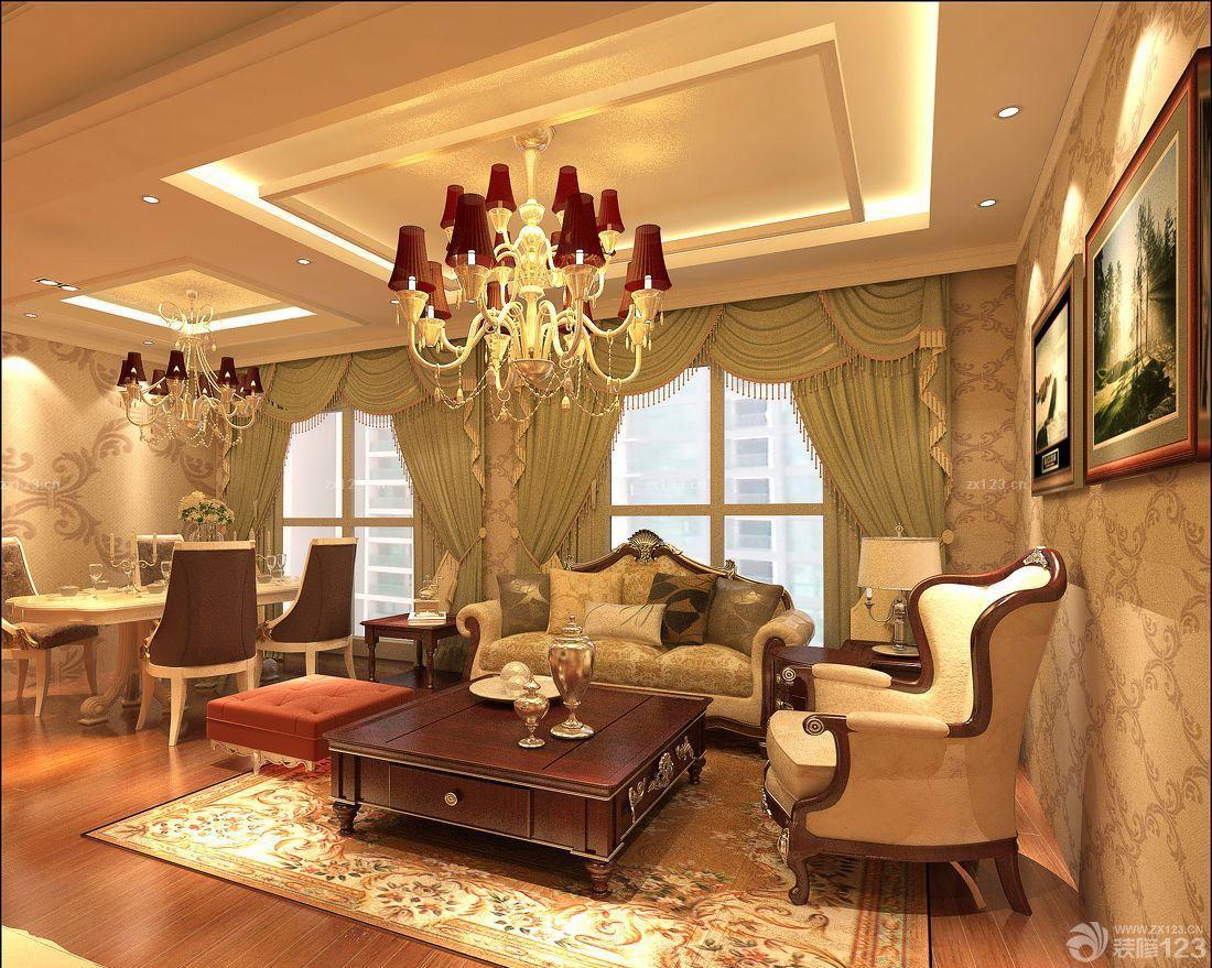 最新欧式风格窗帘展厅设计图片大全