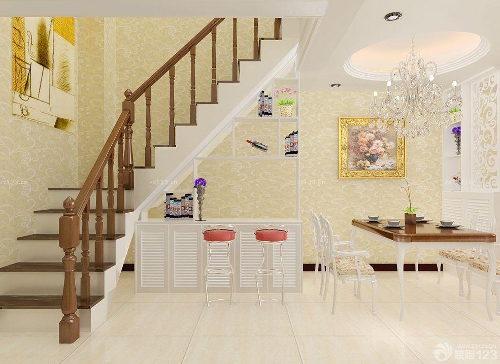 创意旋转钢木楼梯设计样板大全2015_设计456装修效果图