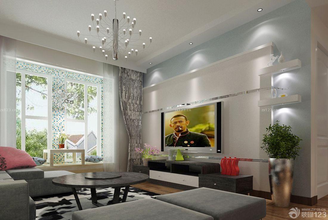 后现代家装客厅大飘窗设计图片大全_2016室内装修效果