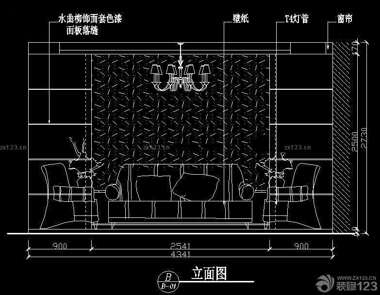 沙发立面图欣赏_2016室内装修效果图_设计456