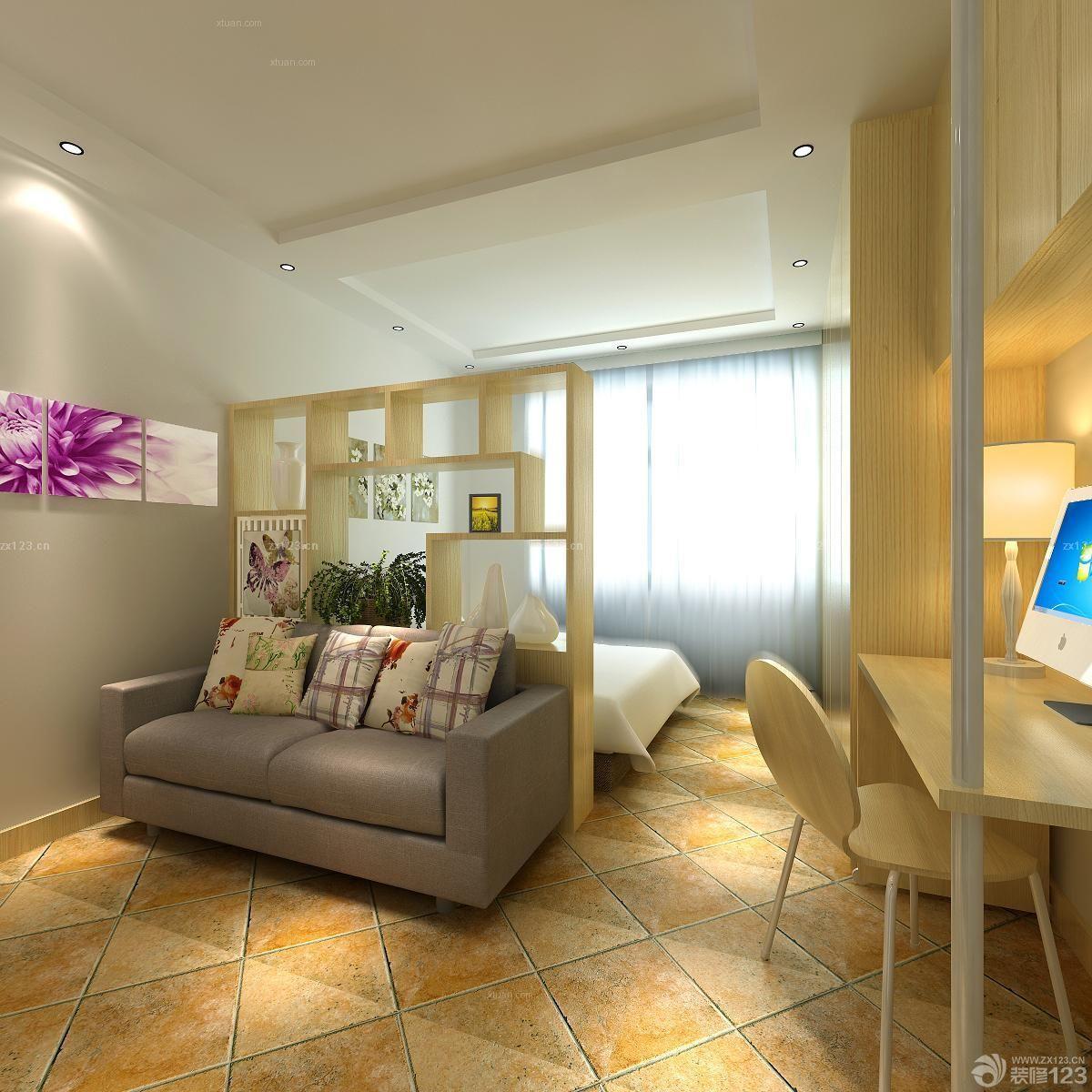 半圆形户型客厅设计图展示图片