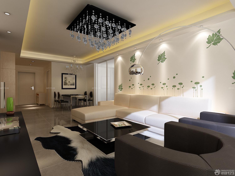 最新现代风格硅藻泥背景墙地毯装修效果图片