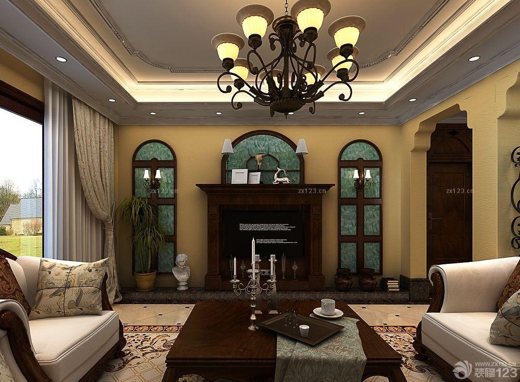 房屋客厅欧式壁炉装修实景图片大全