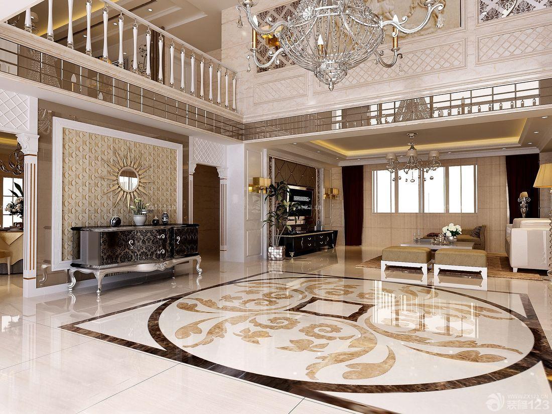 欧式风格楼中楼客厅装修效果图大全2016