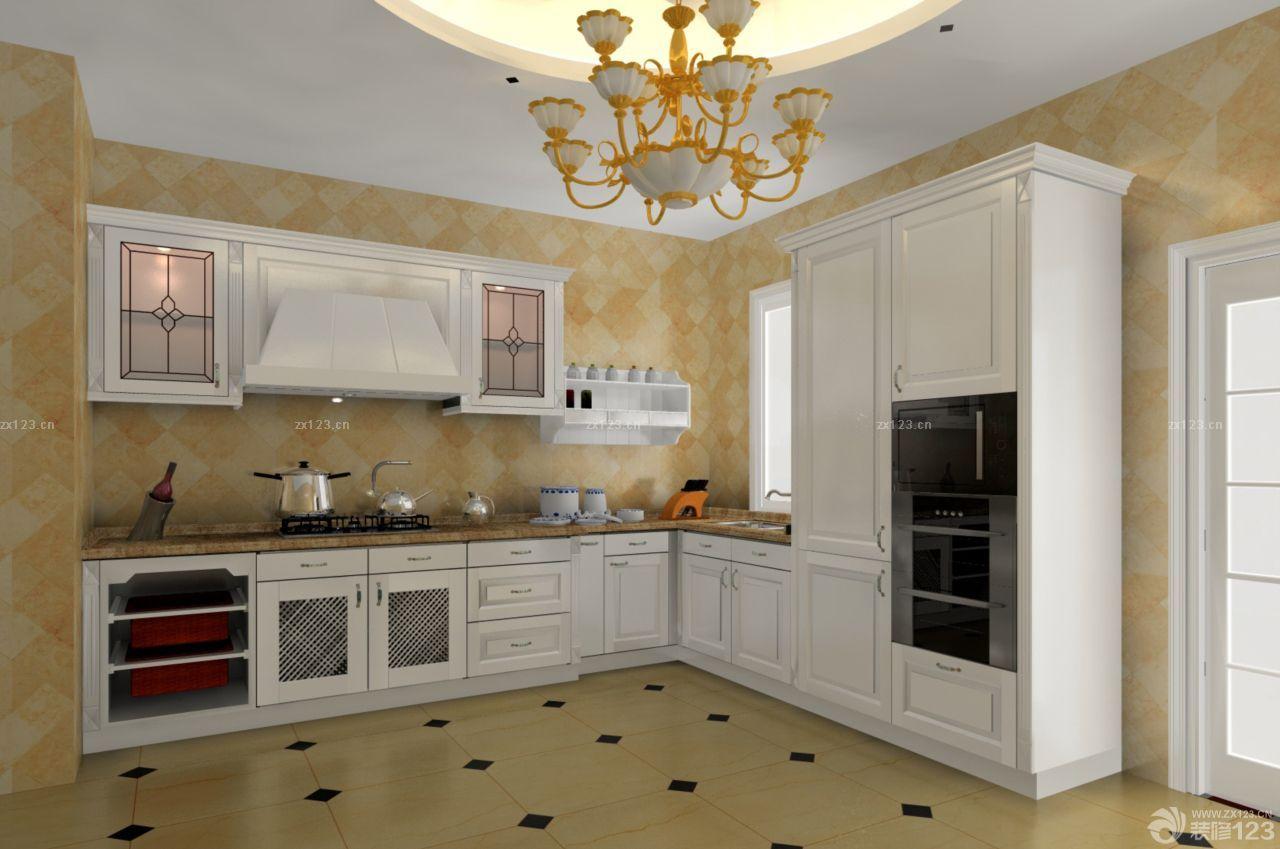 装修效果图 家居设计 2015敞开式厨房简欧风格整体橱柜装修案例大全