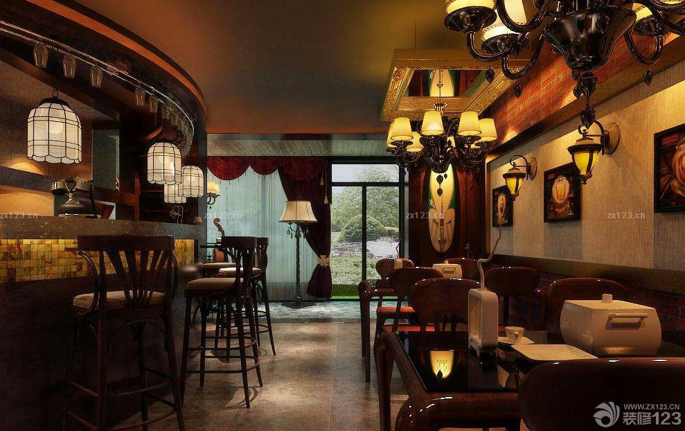 歐式風格主題酒吧室內設計圖片