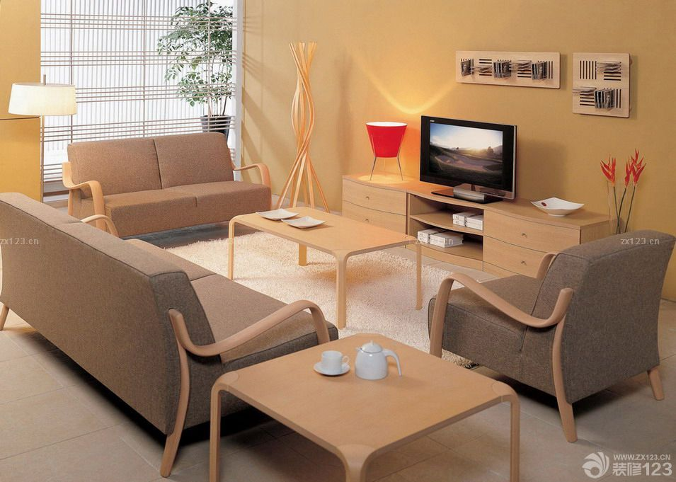 简约风格曲美家具装修效果图片