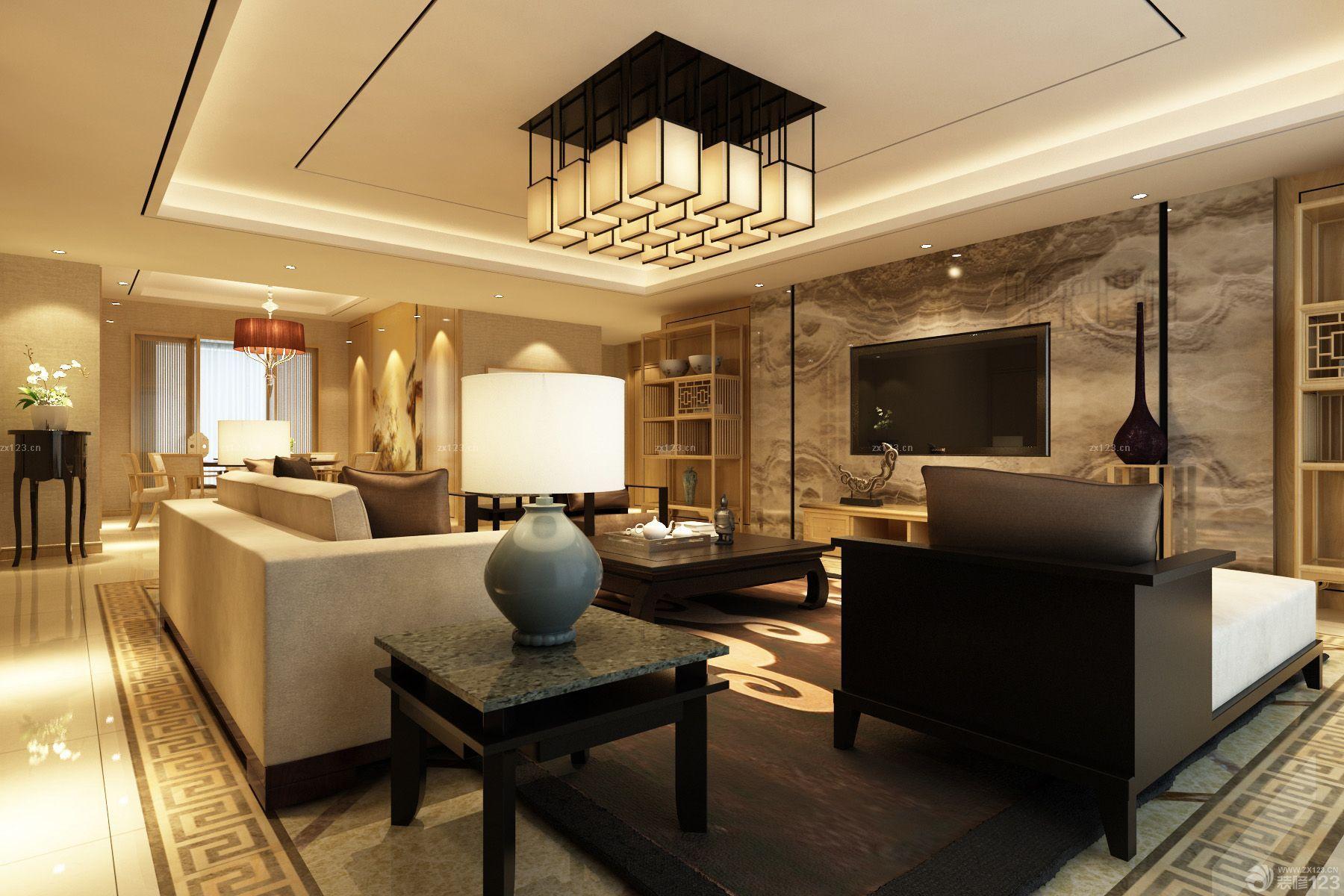 新中式家装风格效果图