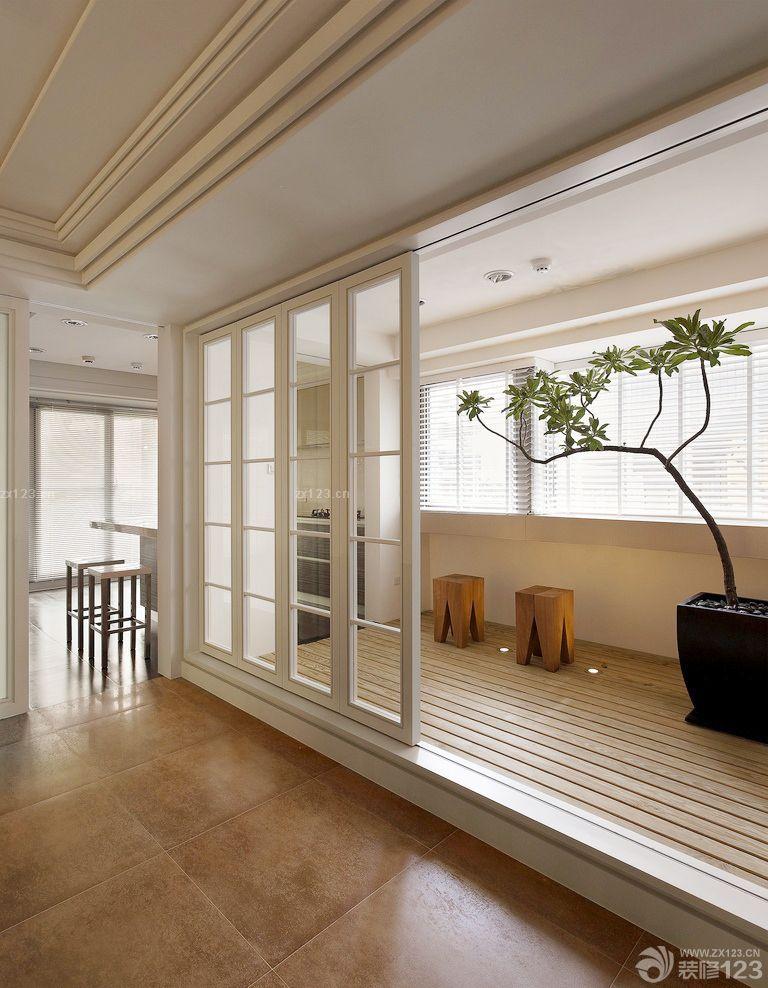 家装客厅阳台隔断推拉门隔断设计