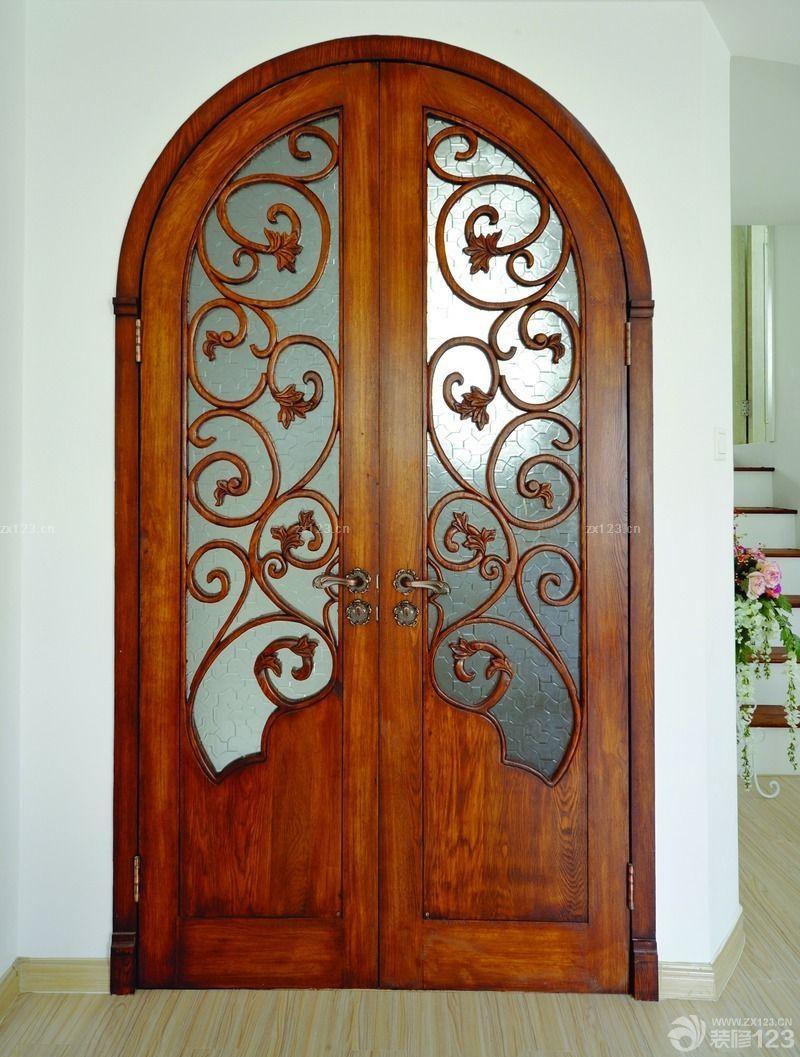 最新欧式门洞艺术玻璃门效果图欣赏
