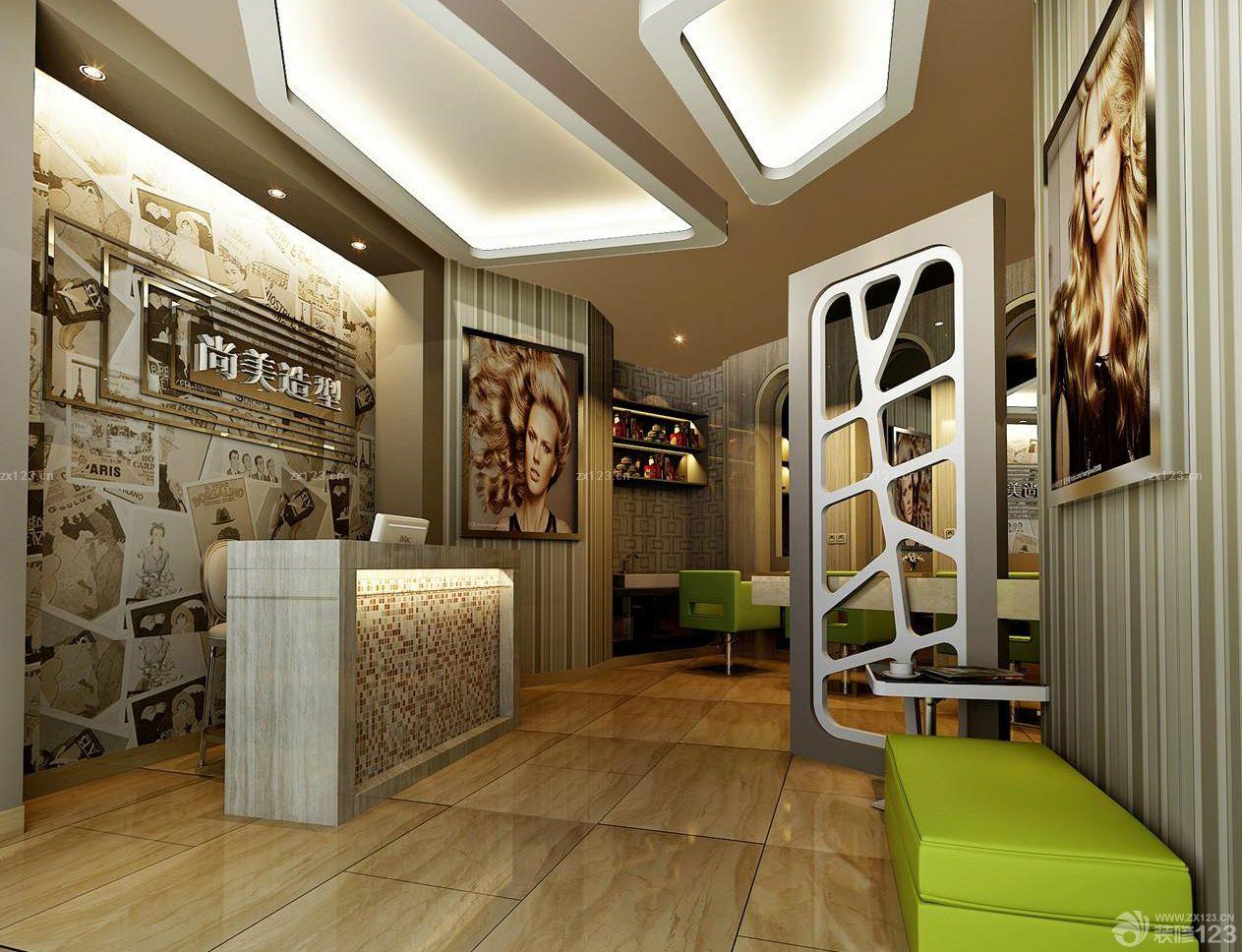 发廊吧台装修设计效果图大全