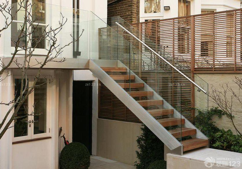 别墅室外不锈钢楼梯栏杆设计图片大全 设计456装修效果图