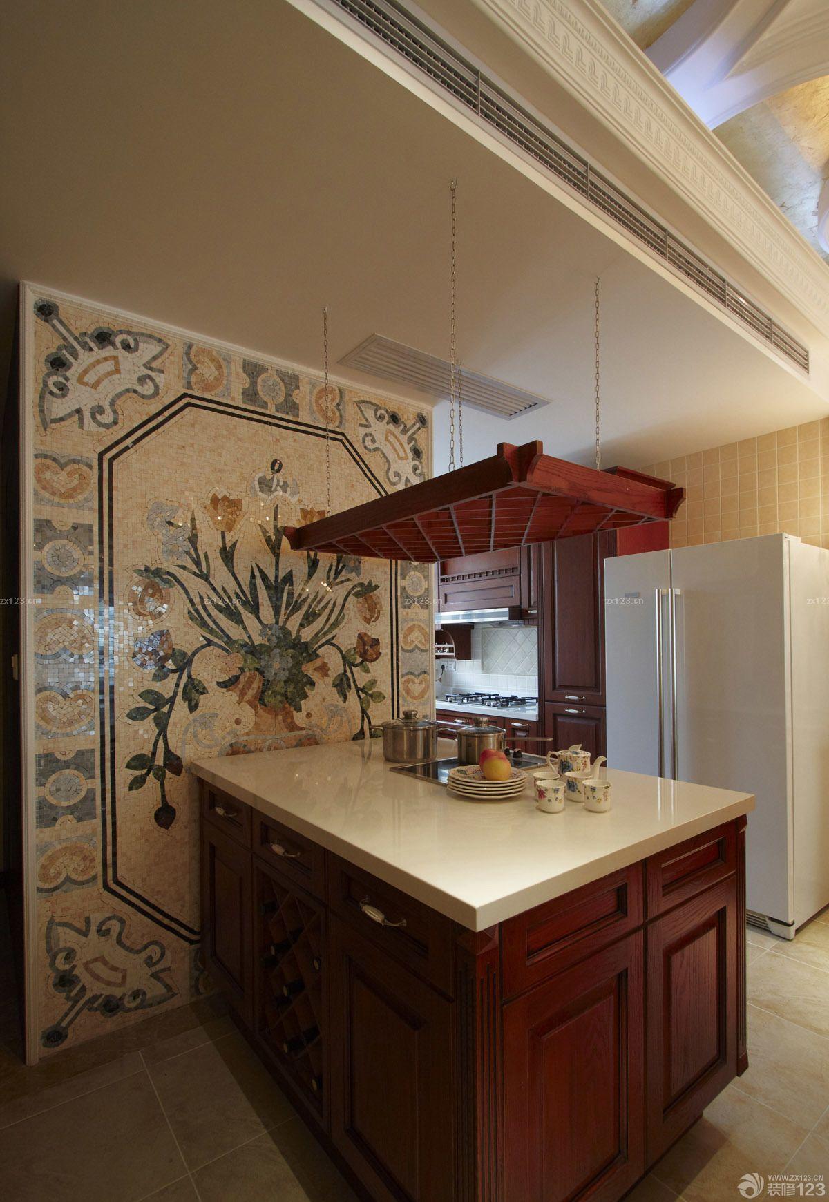 复式楼简欧风格厨房装修设计效果图