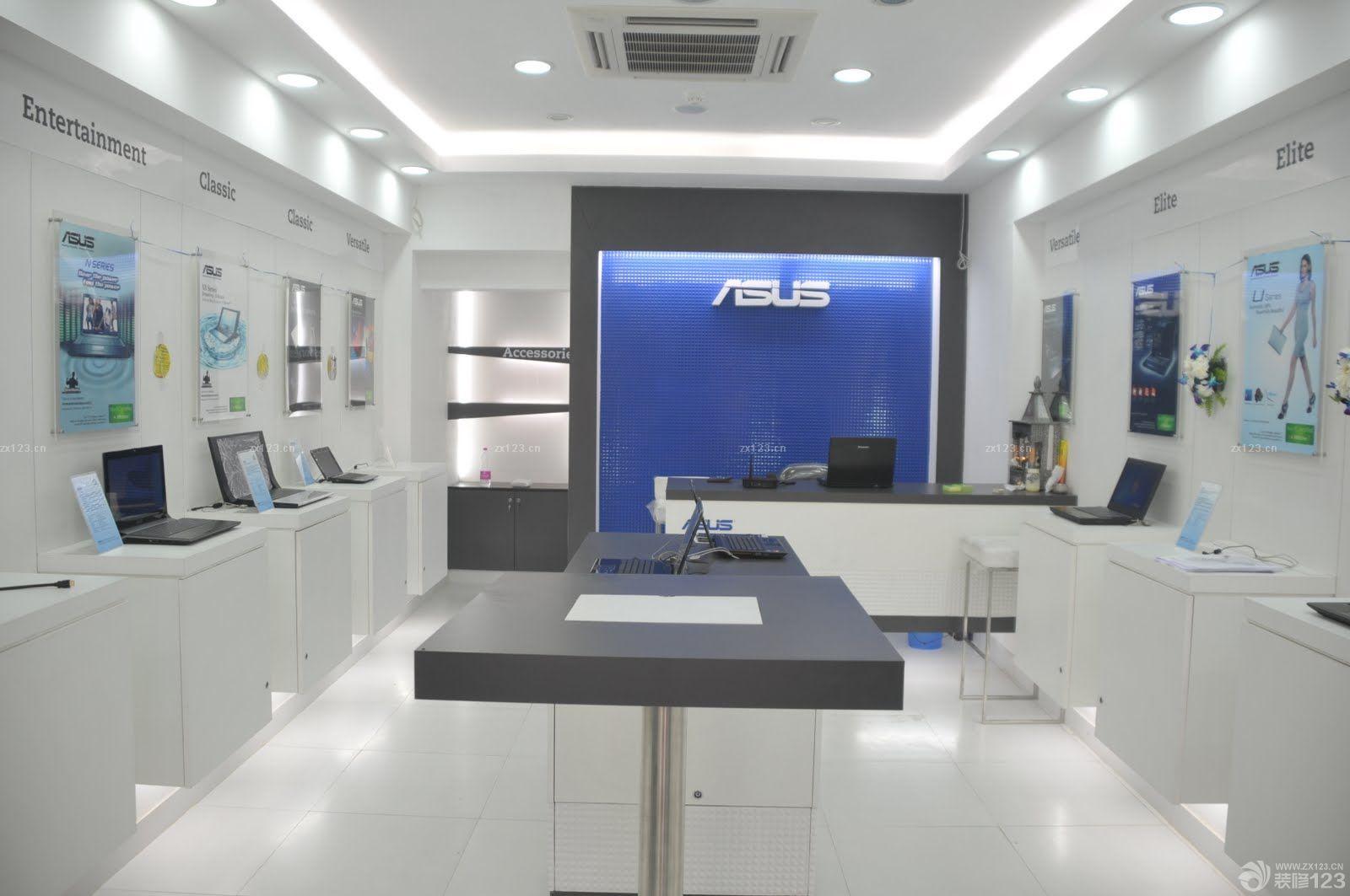 2015专卖店装修设计电脑店形象墙装修效果图片图片