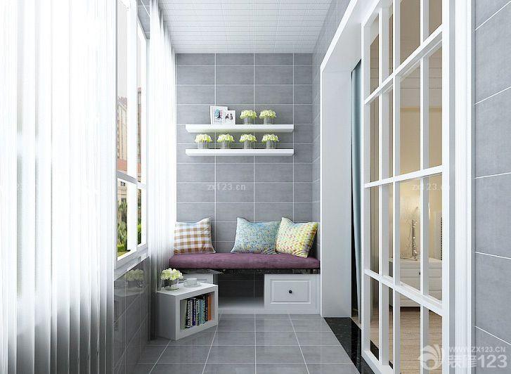 最新地中海风格阳台窗帘设计图片欣赏