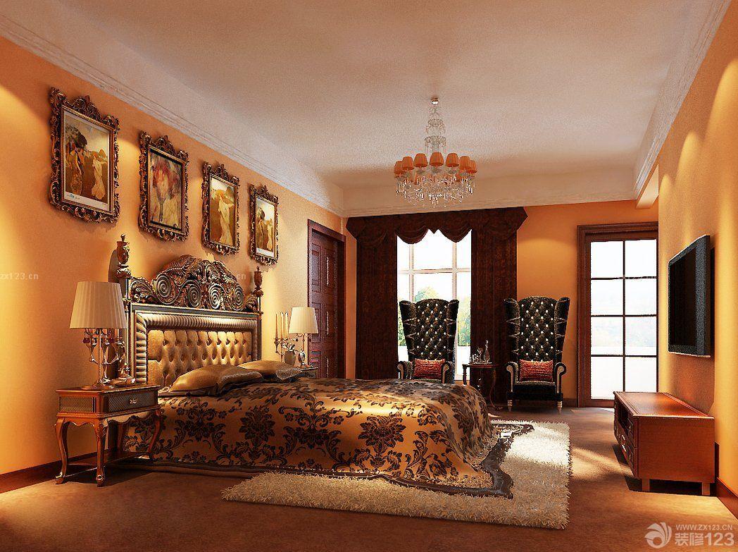 欧式风格精品酒店客房装修效果图