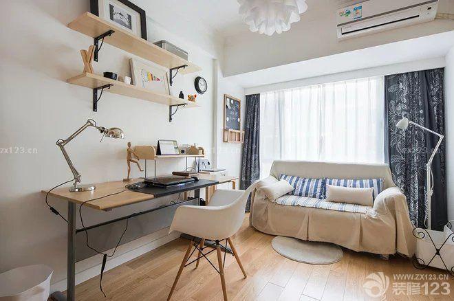 最新小书房简约书桌设计图片