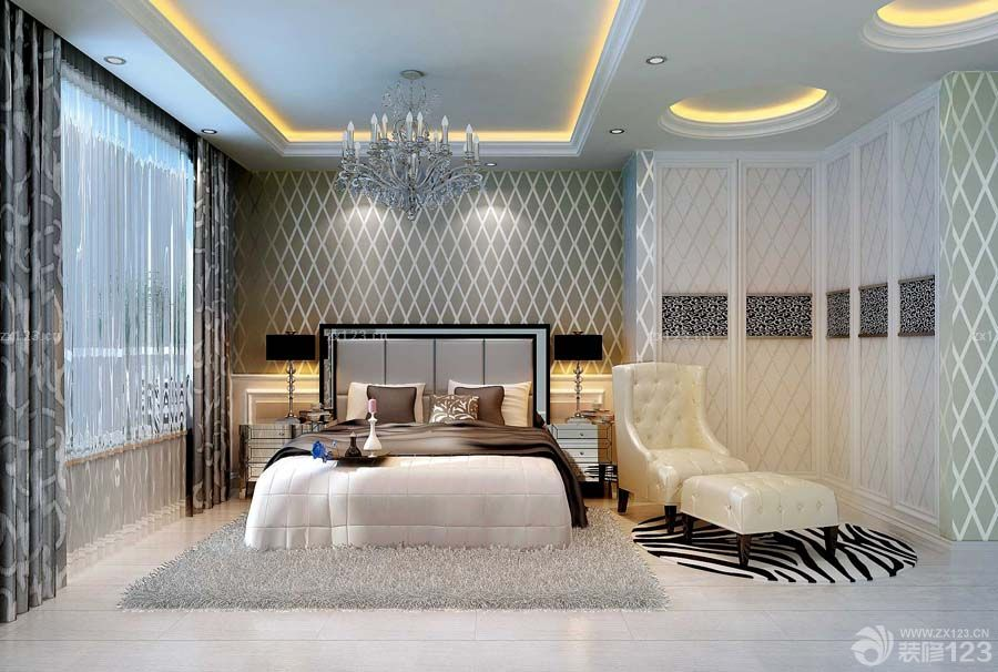 浪漫现代北欧风格小户型主卧室装修样板房大全