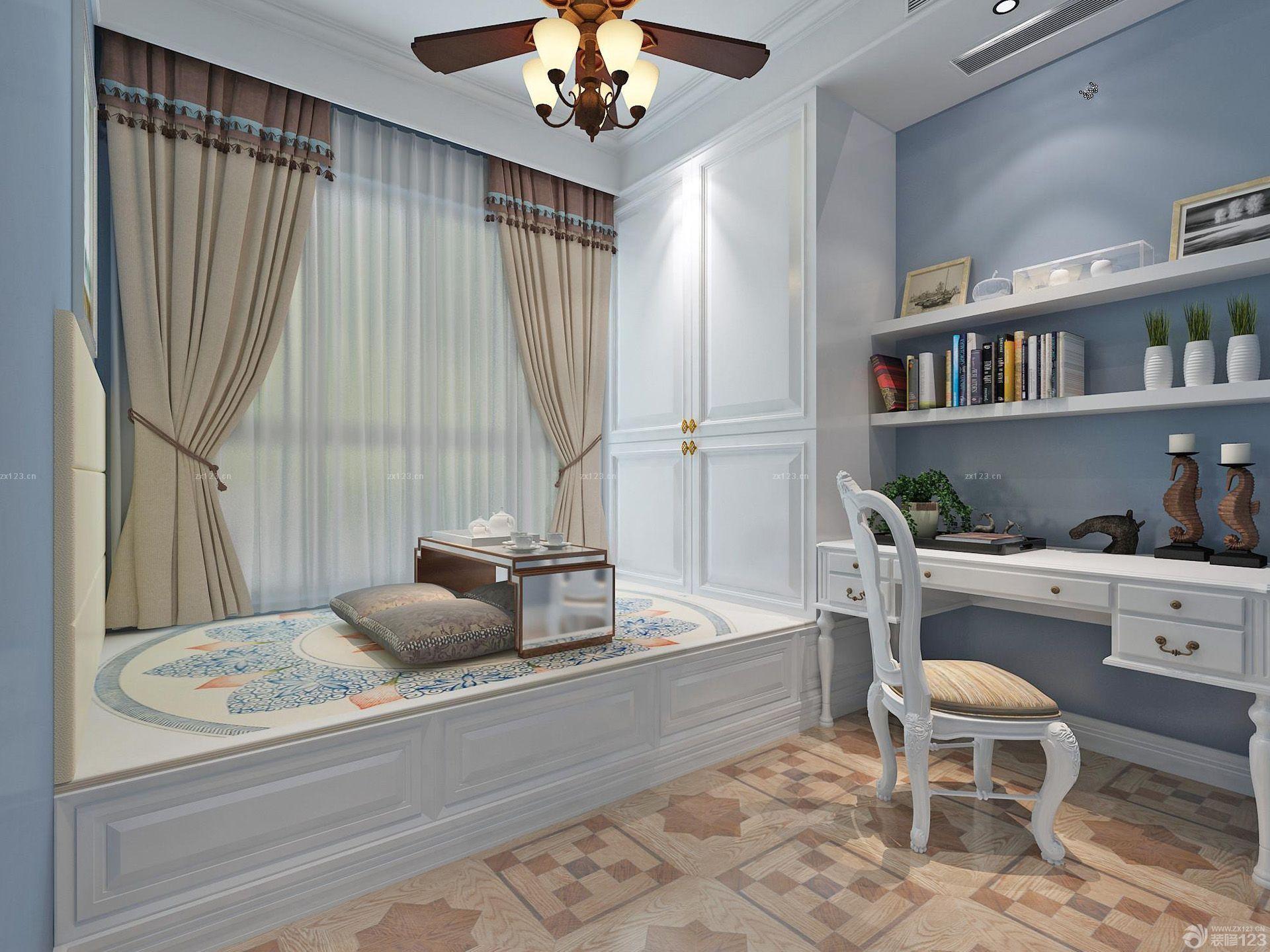 仿古砖橱柜效果图_现代欧式风格厨房白色橱柜地面瓷砖效果图大全_设计456装修效果图