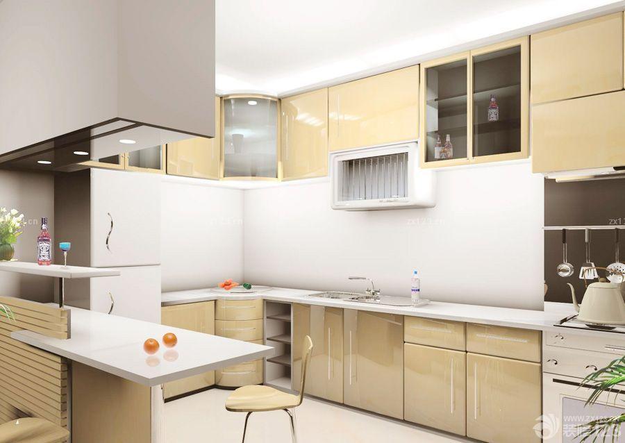 现代风格开放式厨房欧派橱柜设计效果图