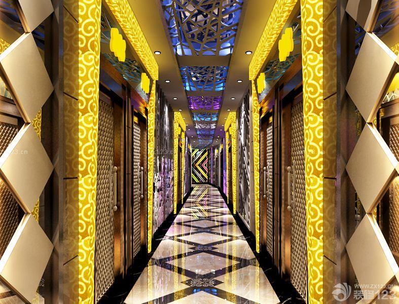 2016ktv走廊奢华现代欧式风格设计效果图片大全