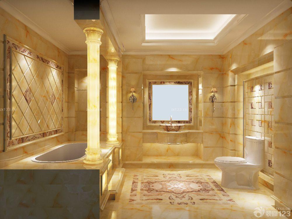 2016瓷砖卫浴欧式罗马柱装修图片