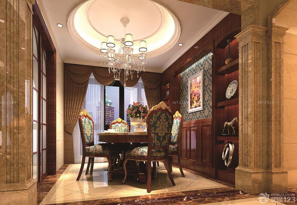 家装餐厅欧式罗马柱效果图片大全
