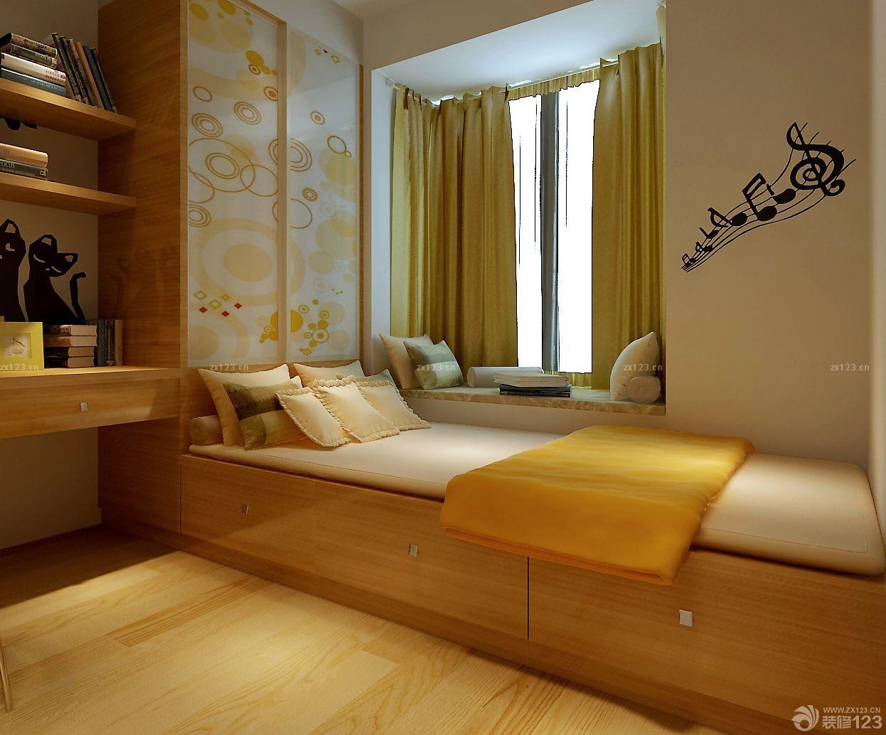 最新6平米小卧室榻榻米床展示图片_设计456装修效果图