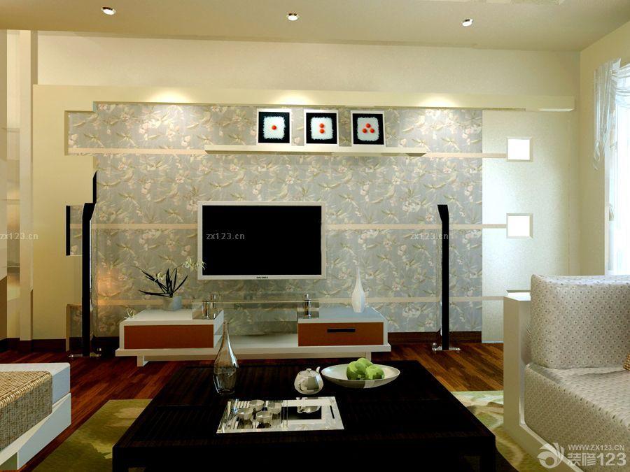 装修效果图 家居设计 简欧风格小户型客厅隐形门设计效果图片2015