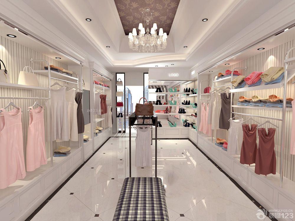 2016小面积欧式女装服装店铺设计效果图