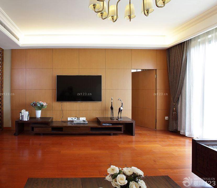 2015家装客厅隐形门背景墙设计效果图欣赏