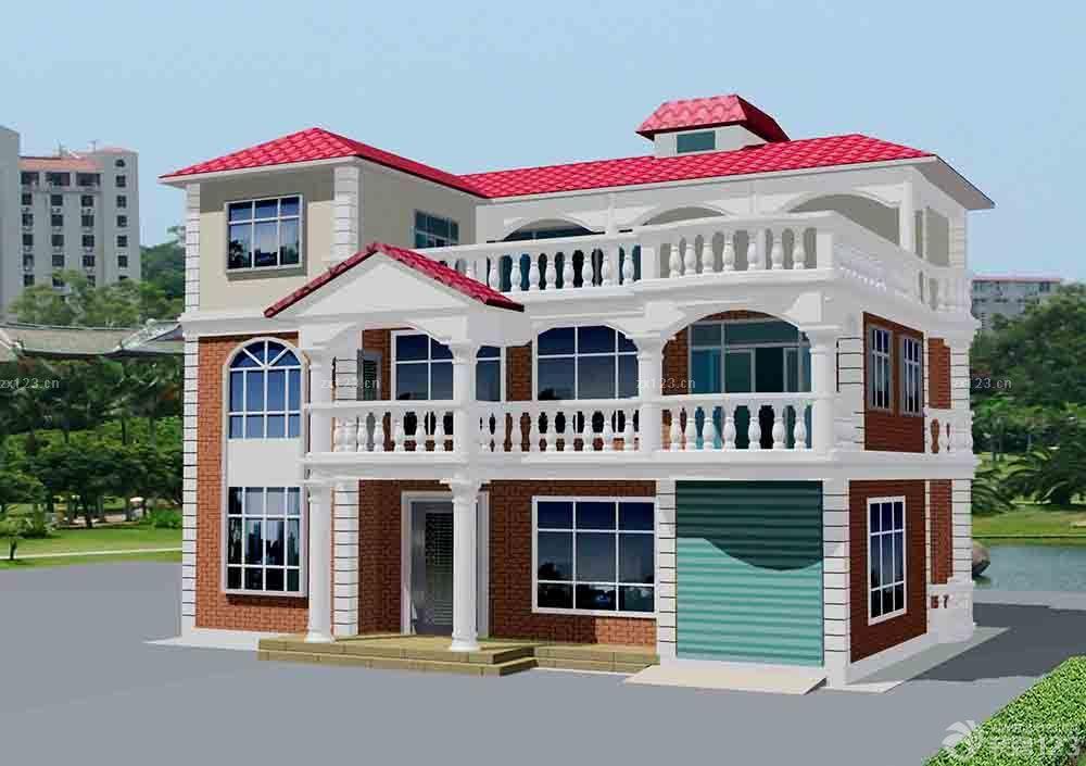 2016现代农村别墅外墙瓷砖外观设计图片大全