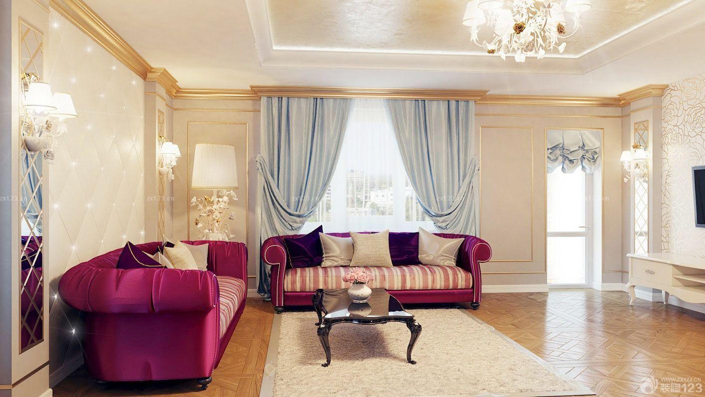 欧式风格家装客厅隐形门装修实景图片2015